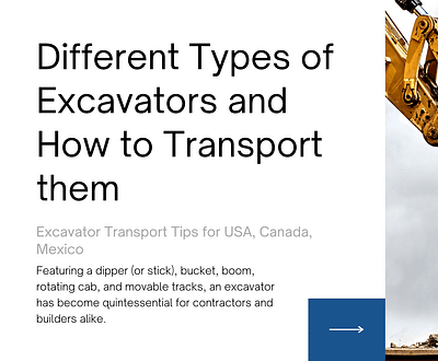 Types-of-excavators-transport-quote-freight