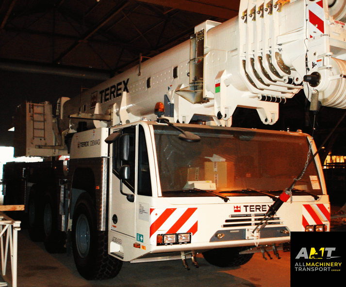Terex Crane transported by All Machinery Transport Team across USA, Canada and Mexico.